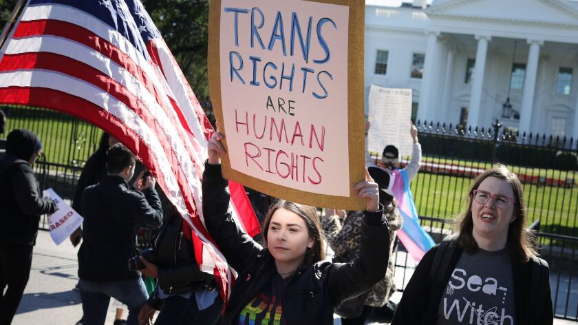 ***BESTPIX*** Activists Rally For Transgender Rights Outside The White House