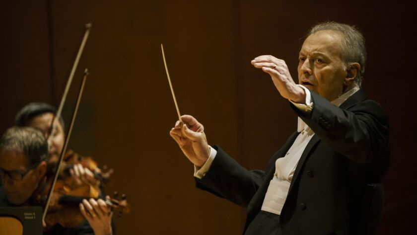 LOS ANGELES, CALIF. -- THURSDAY, JANUARY 3, 2019: Zubin Mehta conducts the LA Phil along with Pincha