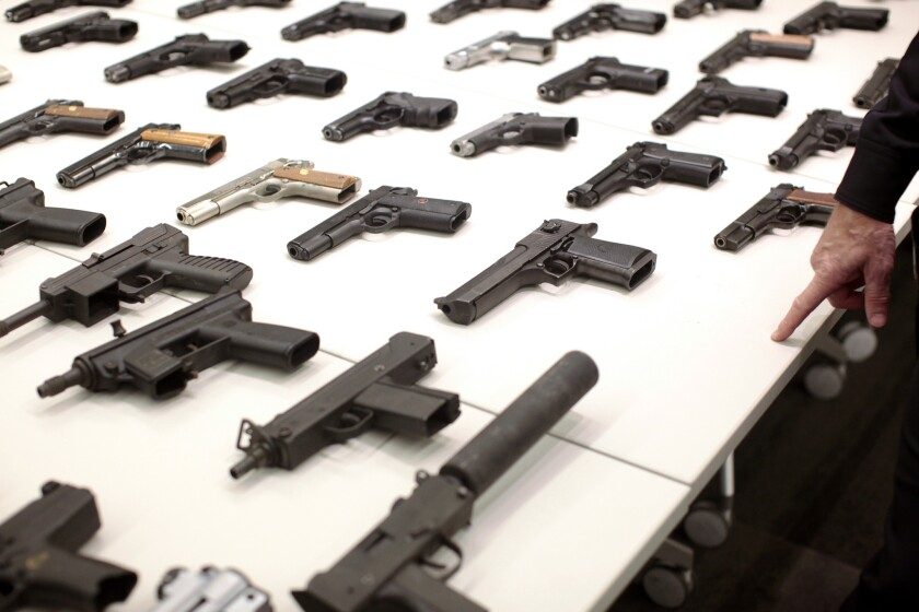 The haul from an LAPD gun buyback held in December 2012.