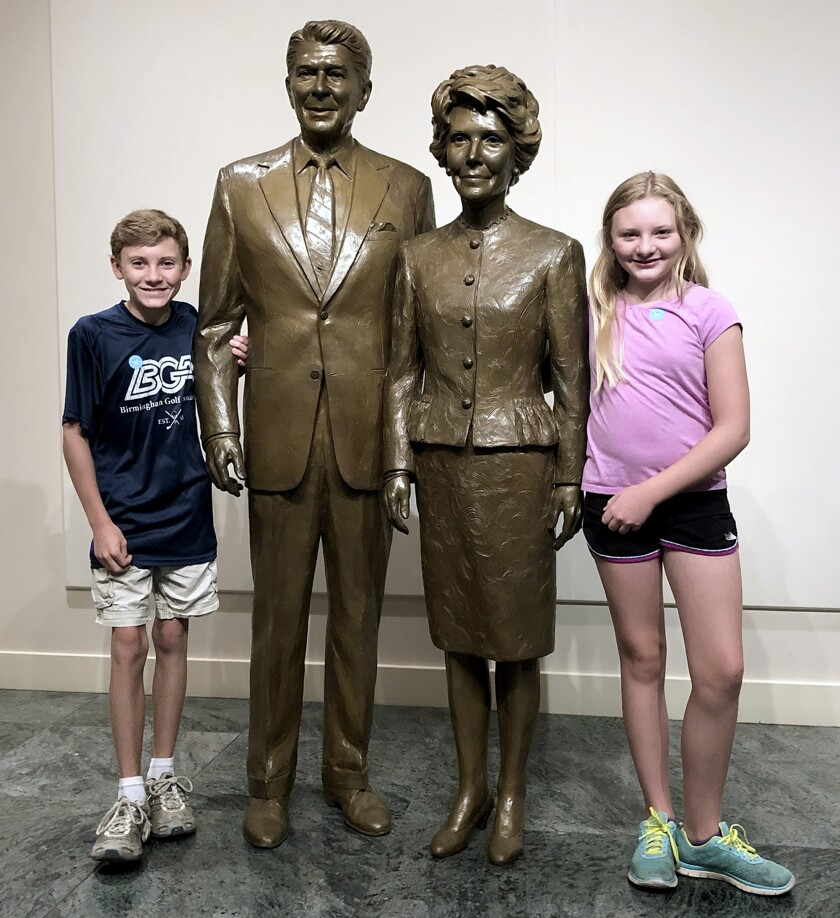 Braxton and Brie Sutton at the Reagan presidential library
