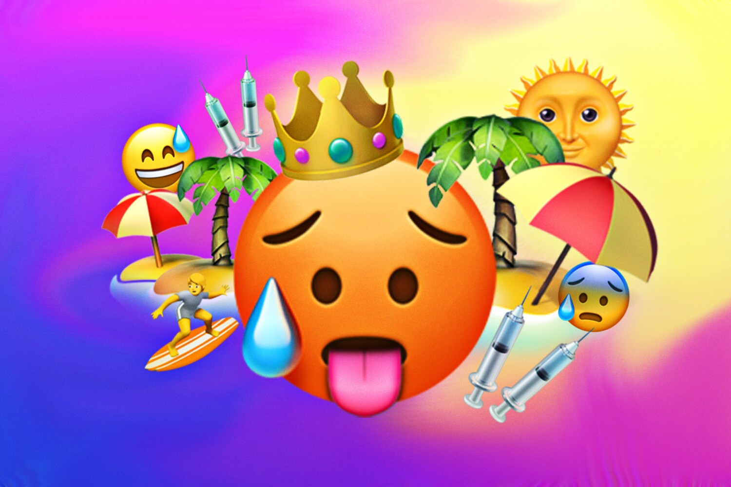 The emoji of our not-really-post-but-wish-it-were-post pandemic summer