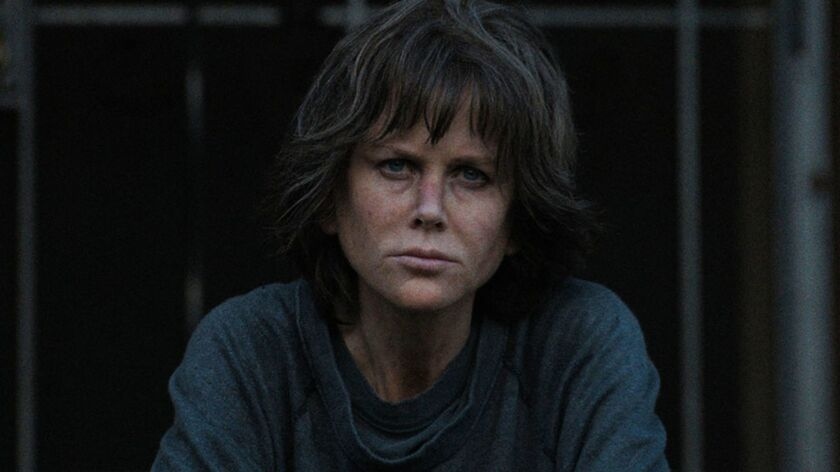 Still of Nicole Kidman in a scene from the movie, Destroyer. Credit: TIFF
