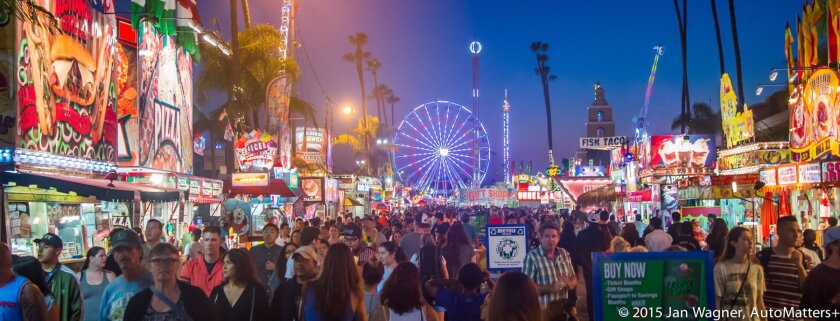 Evening on the midway at the 2015 San Diego County Fair.
