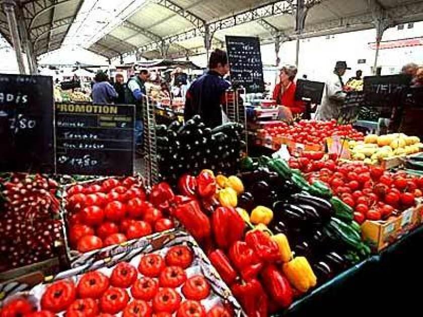 On Saturdays, Place Billard becomes an open-air market.