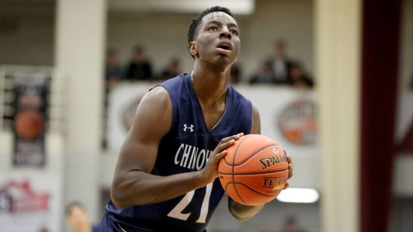 Onyeka Okongwu burst onto the high school basketball scene as a freshman at Chino Hills.
