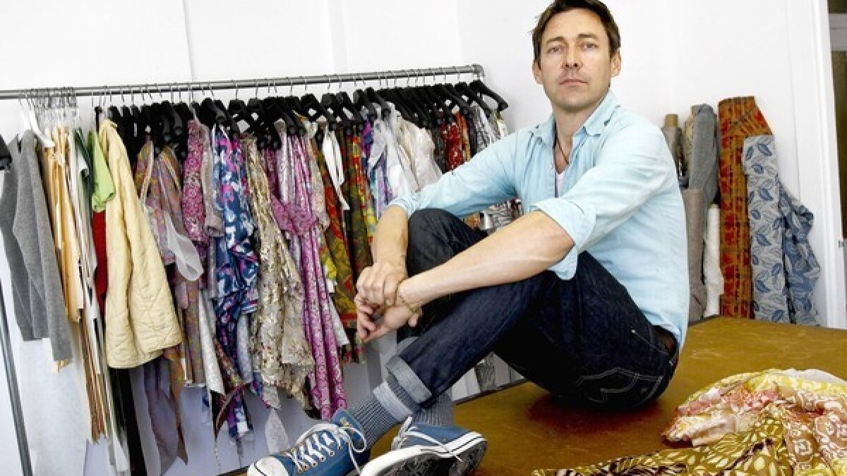 Gregory Parkinson L A Fashion Designer Succeeds By Following His Own Vision Los Angeles Times