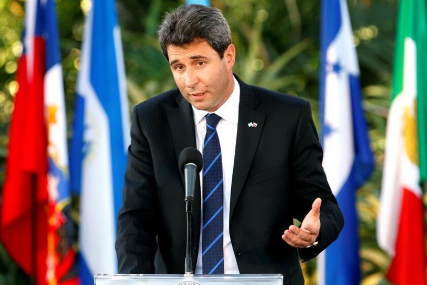 En la imagen, el gobernador de la Provincia de San Juan en Argentina, Sergio Uñac. EFE/Archivo