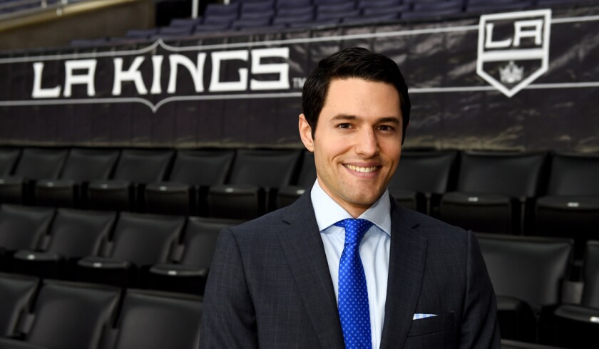 Kings play-by-play announcer Alex Faust.