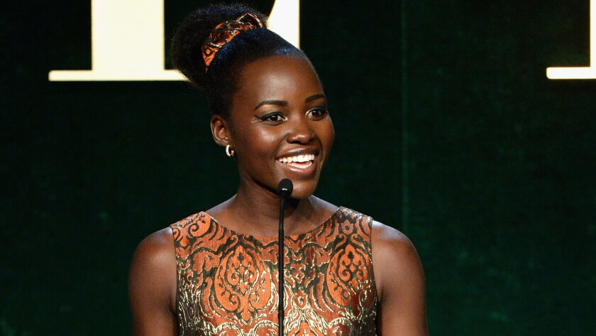 Lupita Nyong'o speaks onstage during the 23rd annual Elle Women in Hollywood Awards at the Four Season Hotel in Beverly Hills on Oct. 24.