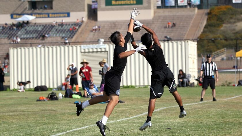CARLSBAD_High school football teams compete in summer passing leagues and on this particular Saturda