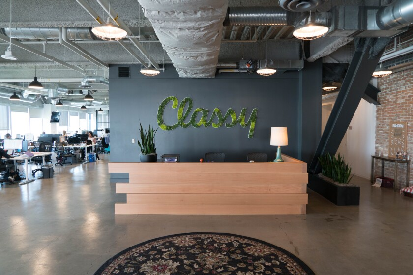 Classy's office in San Diego.