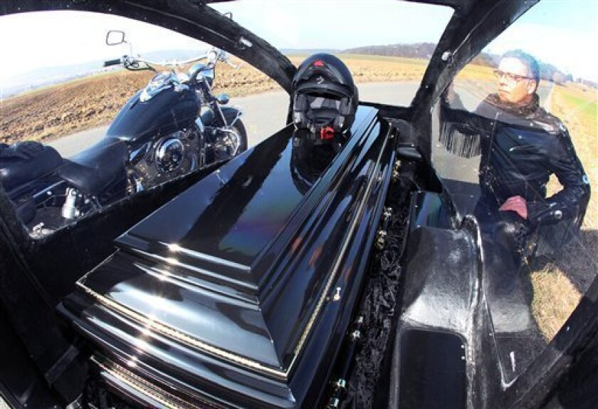German offering motorcycle hearse for last trip - The San