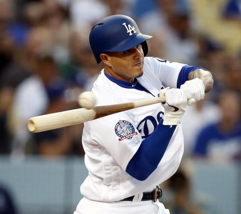 Manny Machado de los Dodgers de Los Ángeles en acción durante un partido de béisbol de la MLB. EFE/Archivo
