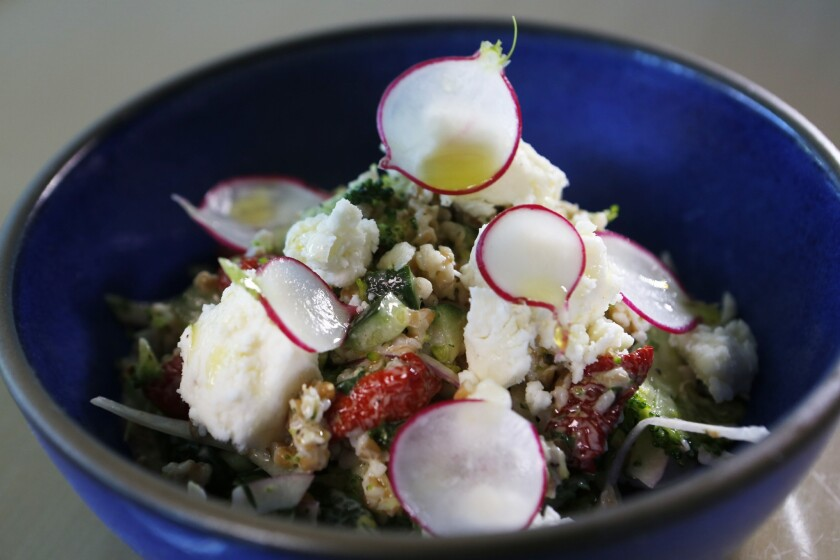 Cracked farro salad at Alimento in the Silver Lake neighborhood of Los Angeles.