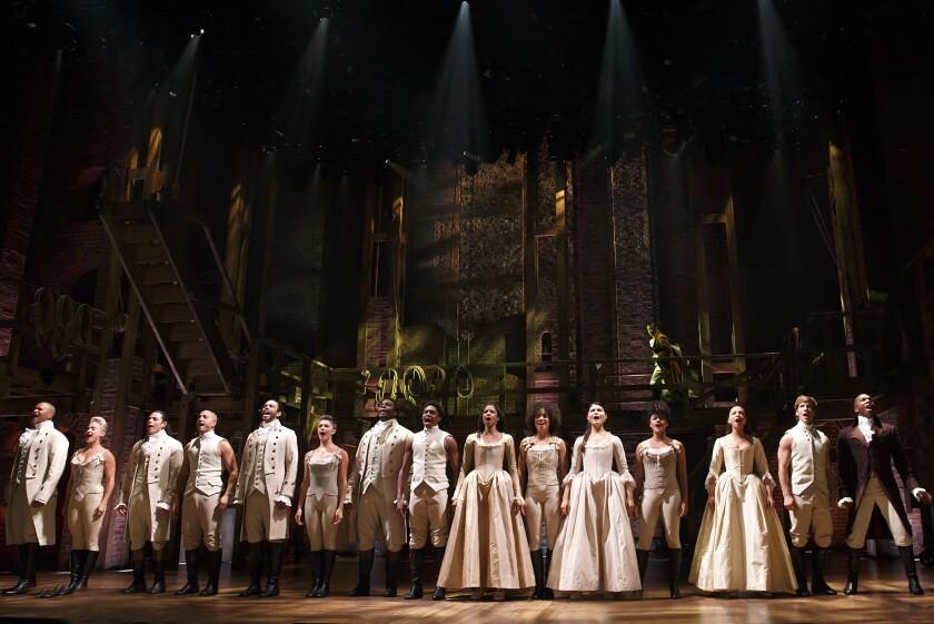 "The ""Hamilton"" movie features the entire original Broadway cast."