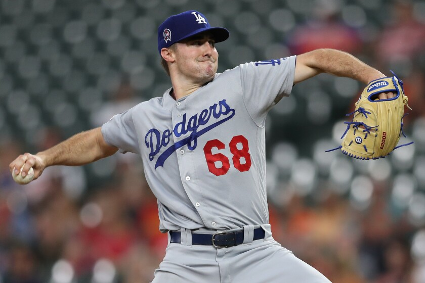 Dodgers right-hander Ross Stripling pitches against the Orioles on Sept. 11, 2019, in Baltimore.