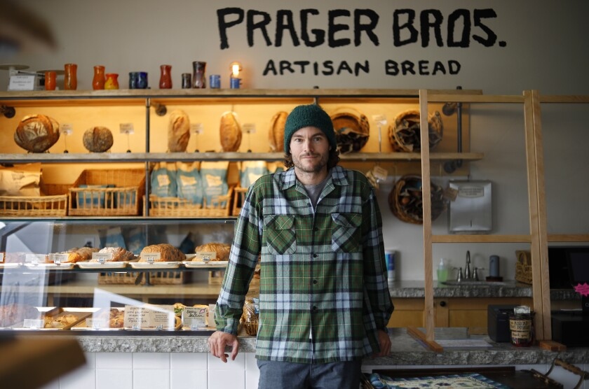 Louie Prager, co-owner of Prager Brothers artisan breads in Carlsbad. Prager is among the thousands of workers deemed essential by the state.