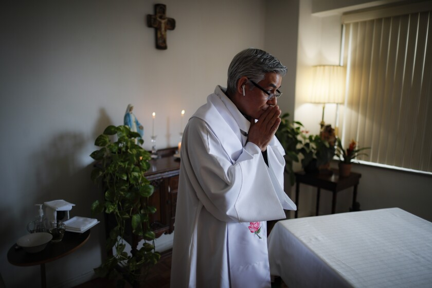 Virus Outbreak A Priest's Mission