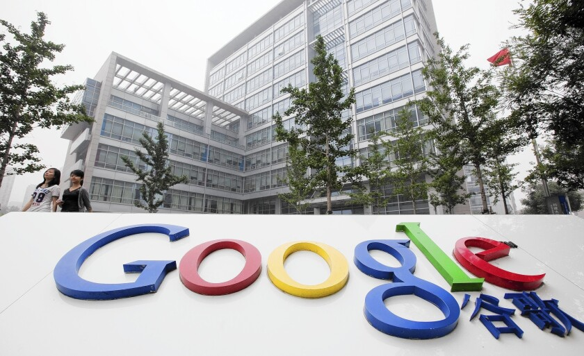 Google services reportedly disrupted in China