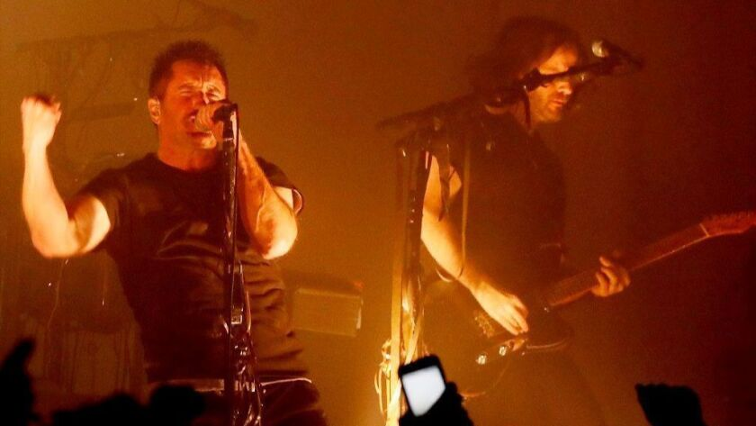 Trent Reznor and Nine Inch Nails perform Dec. 7 at the Hollywood Palladium.