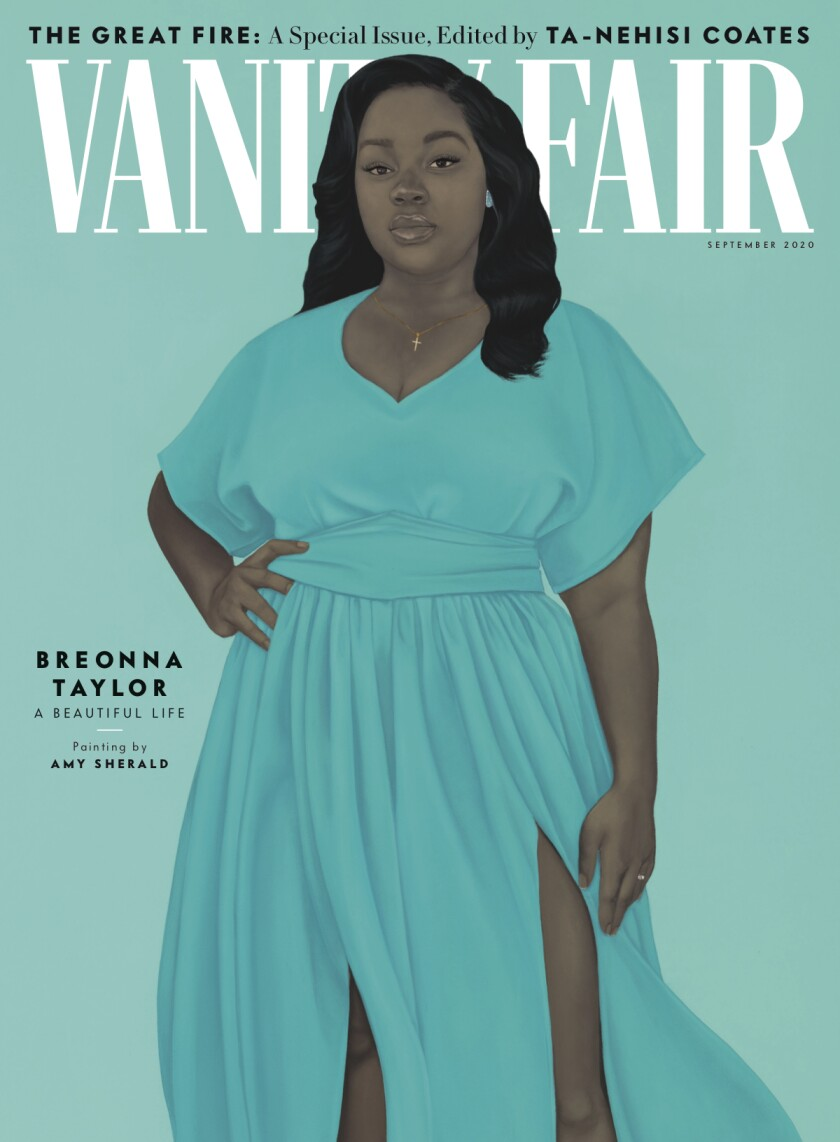 Illustration of Breonna Taylor on the cover of next month's Vanity Fair.