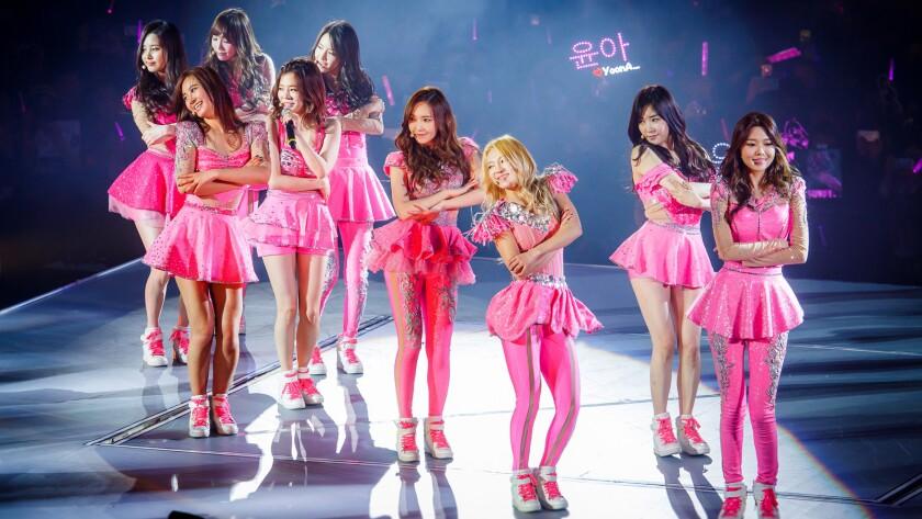 Korean pop group Girls' Generation in Macao, China.