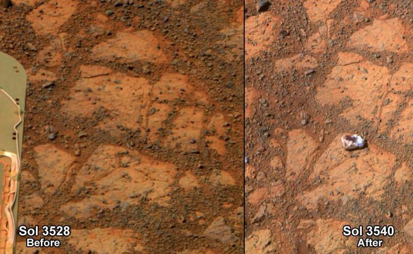 The mystery of the jelly doughnut-shaped rock on Mars is far from over.