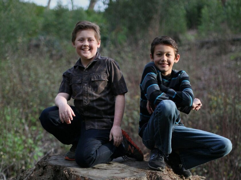 Fraternal twins (and best friends) Jacob and Calder LeBlanc, 11, of La Mesa attend fifth grade at Northmont Elementary School.