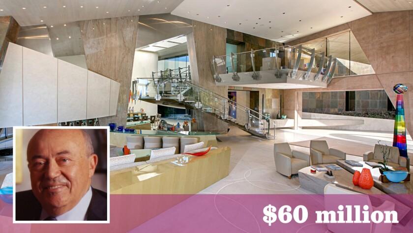 Qualcomm co-founder Andrew Viterbi is asking for $60 million for his futuristic estate on 33 acres in Rancho Santa Fe.
