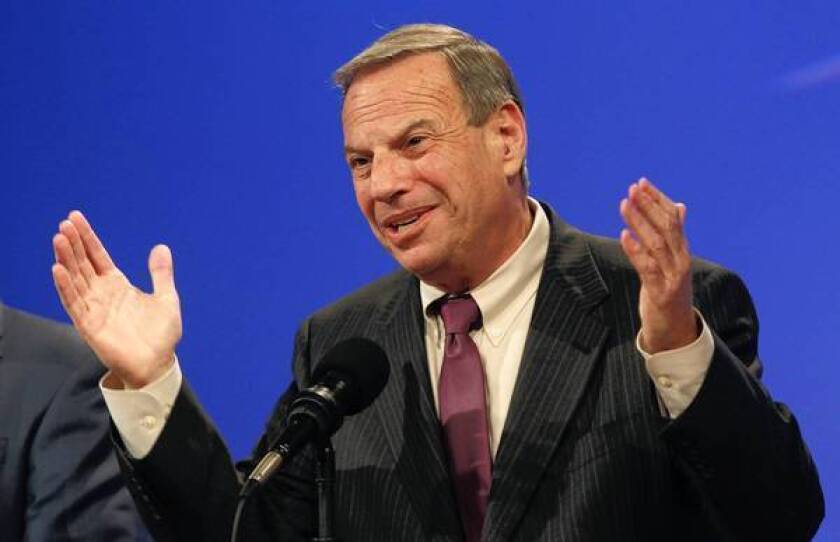 "San Diego Mayor Bob Filner, shown at a debate in 2012, has battled other elected officials, irritated the city's business establishment and infuriated the conservative editorial page of the U-T San Diego newspaper, which has called him a bully and compared him to the Joker in the ""Batman"" movies."