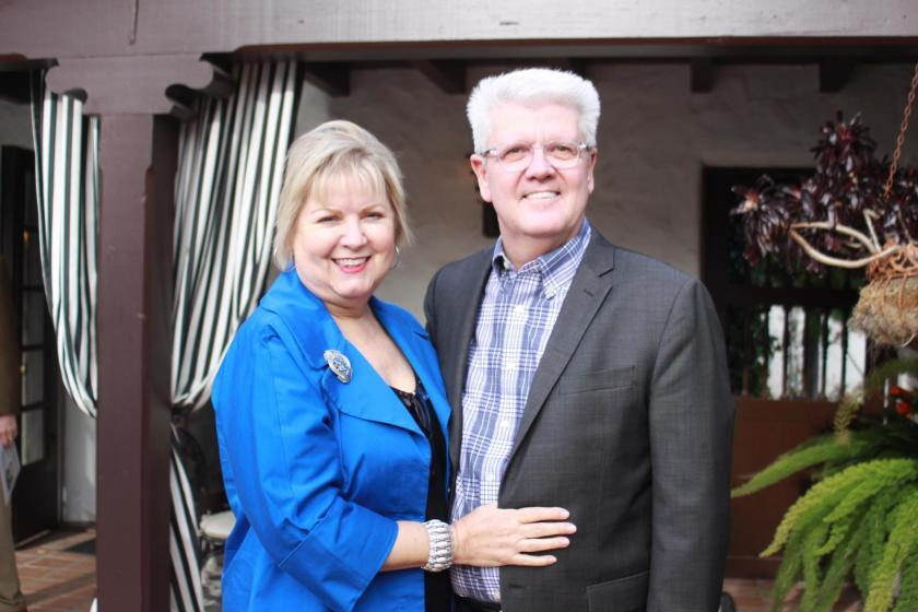 La Jolla Historical Society Executive Director Heath Fox is pictured with his wife, Terry.