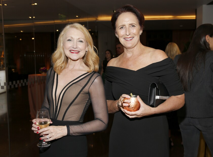 Emmy nominees Patricia Clarkson, left, and Fiona Shaw at 2019 Performers Nominee Reception.