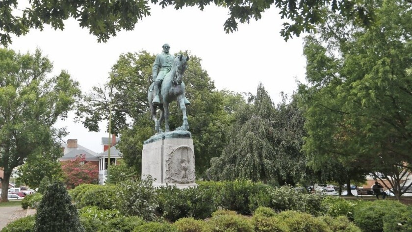 Henry Shrady's 1917 monument to Confederate Gen. Robert E. Lee in Charlottesville.