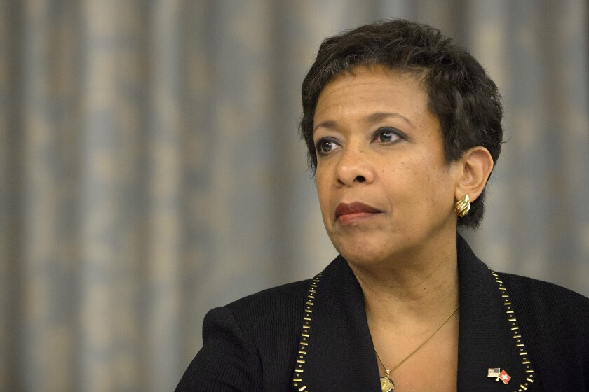 Atty. Gen. Loretta Lynch once opposed releasing Francois Holloway, a convicted car-jacker, from prison. She later withdraw that opposition, part of a trend of freeing nonviolent prisoners with unblemished records.