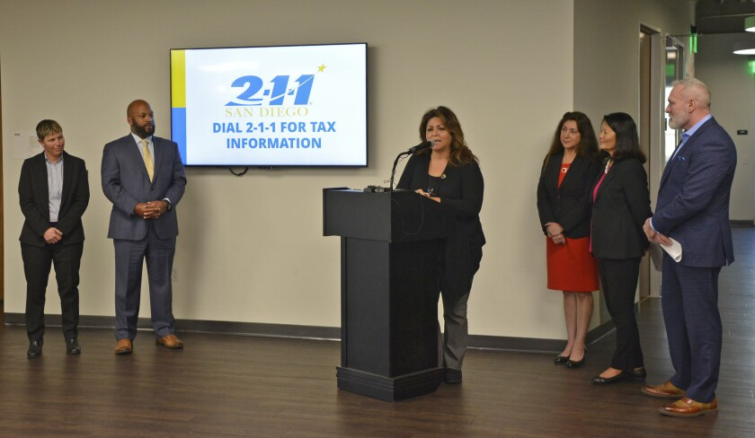 The Earned Income Tax Credit Coalition is kicking off its free tax filing programs for San Diego County residents next week, leaders from partner organizations said Thursday.