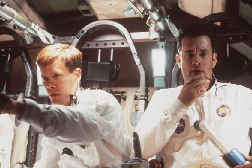 """NASA plans to send a 3-D printer to the space station next year, hoping it can help astronauts avoid emergencies such as the one that occurred on Apollo 13 in 1970. Above, Kevin Bacon and Tom Hanks in the 1996 movie """"Apollo 13."""""""