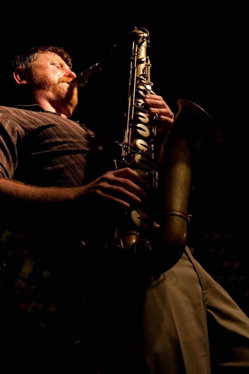 Jason Robinson, saxophonist, composer and music professor. Photo by Michael Klayman.