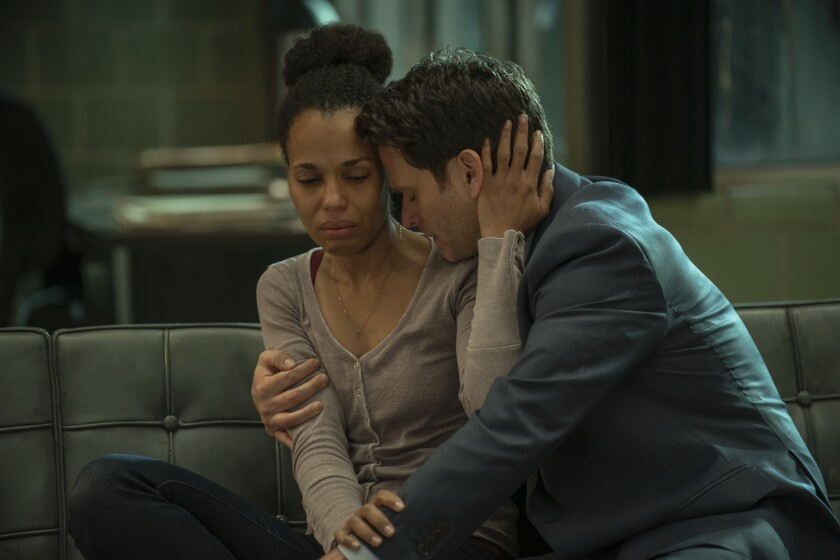 "Kerry Washington and Steven Pasquale in ""American Son""."