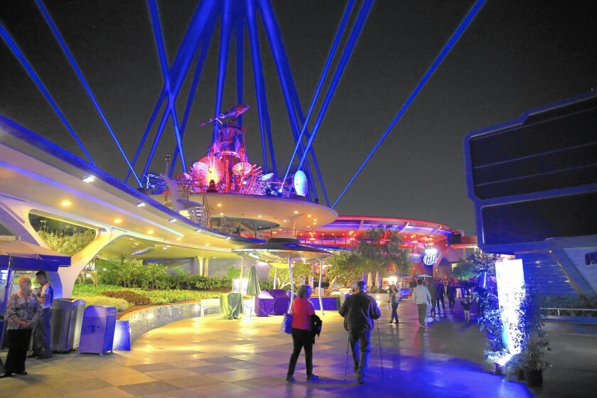 "A celebration of ""Star Wars"" called Season of the Force has transformed Tomorrowland in Disneyland."