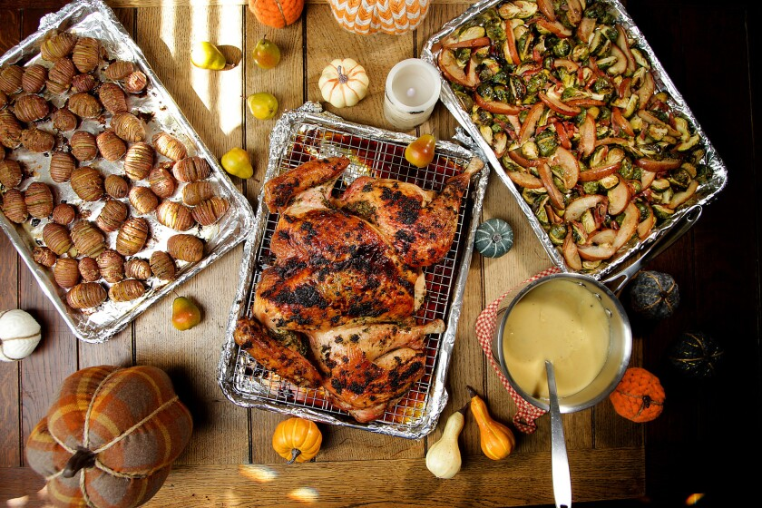 WEST HOLLYWOOD, CA., OCTOBER 30, 2018 ---Thanksgiving cooking story: Everything will be cooked on a
