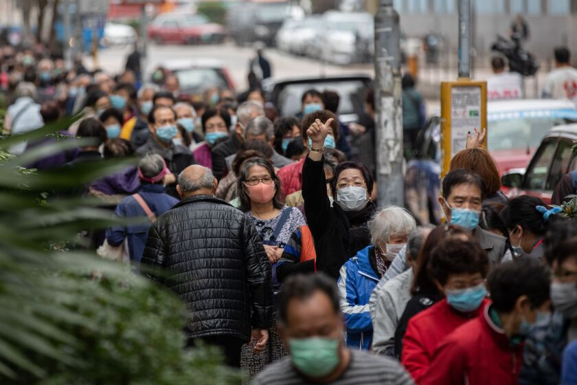 Mask giveaway in Hong Kong amid coronavirus outbreak