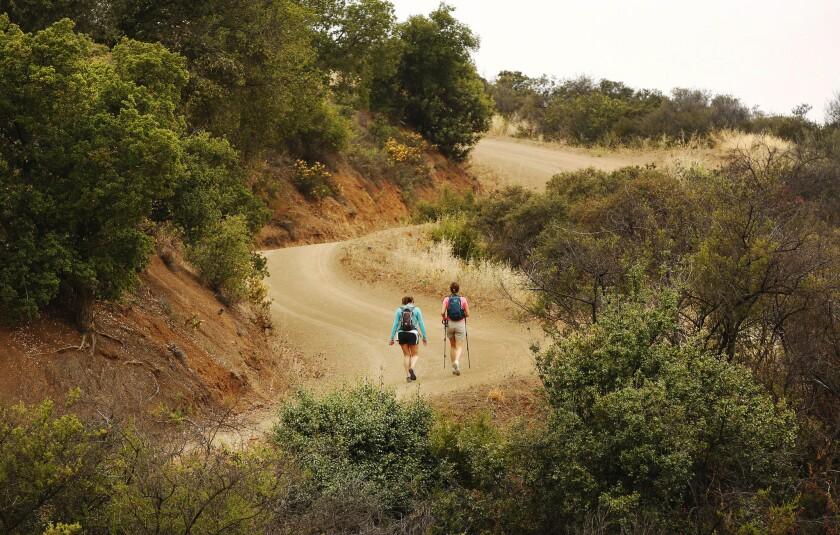 Backbone Trail in Santa Monica Mountains