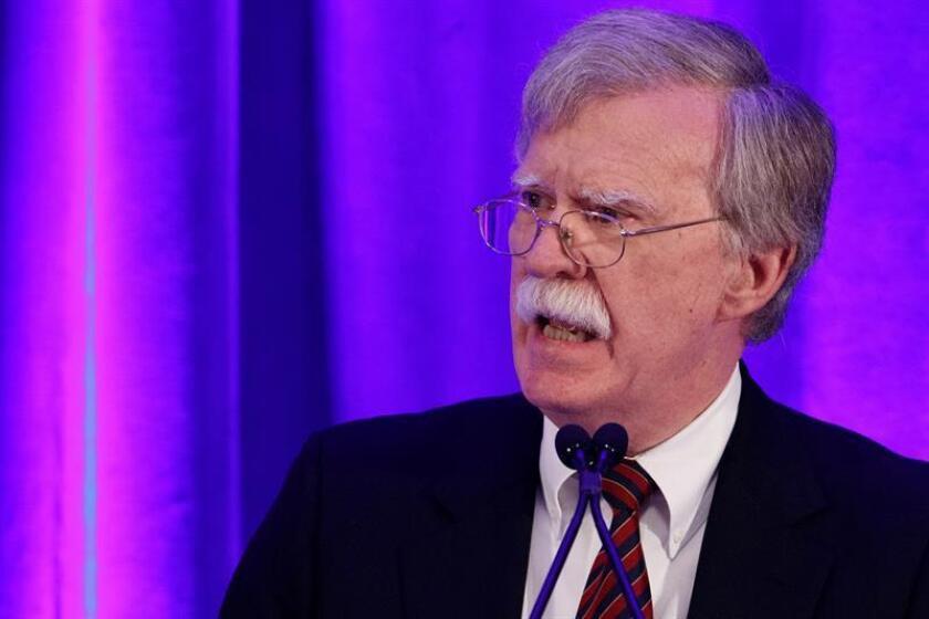 El asesor de seguridad Nacional de la Casa Blanca, John Bolton, durante una conferencia de prensa. EFE/Archivo