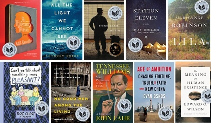 The 2014 National Book Award winners will be announced Wednesday, Nov. 19.