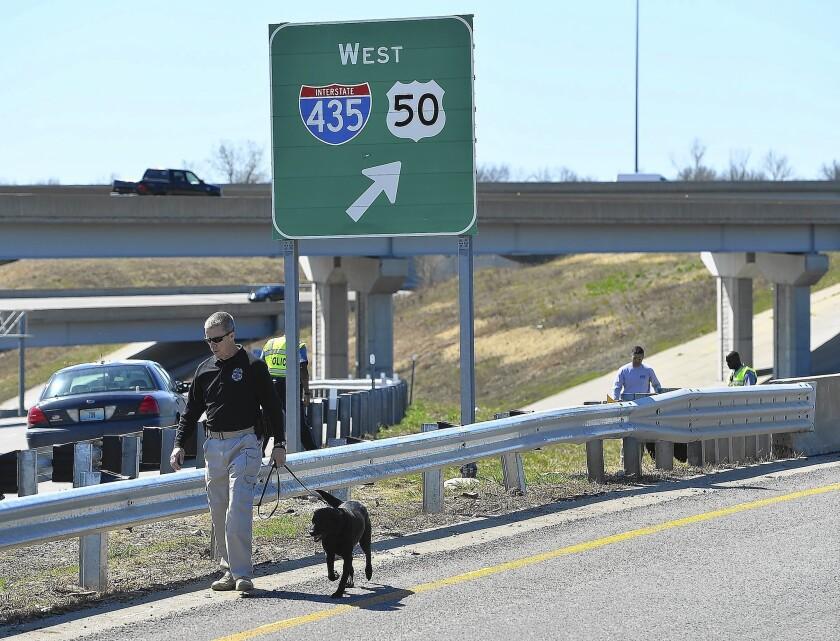 Suspect held in Kansas City freeway shootings