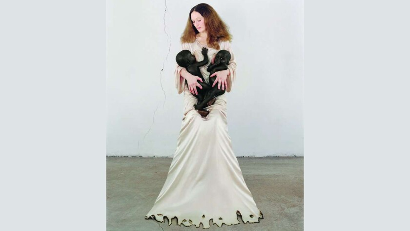 "A portrait of Vanessa Beecroft from the 2008 documentary ""The Art Star and the Sudanese Twins."""