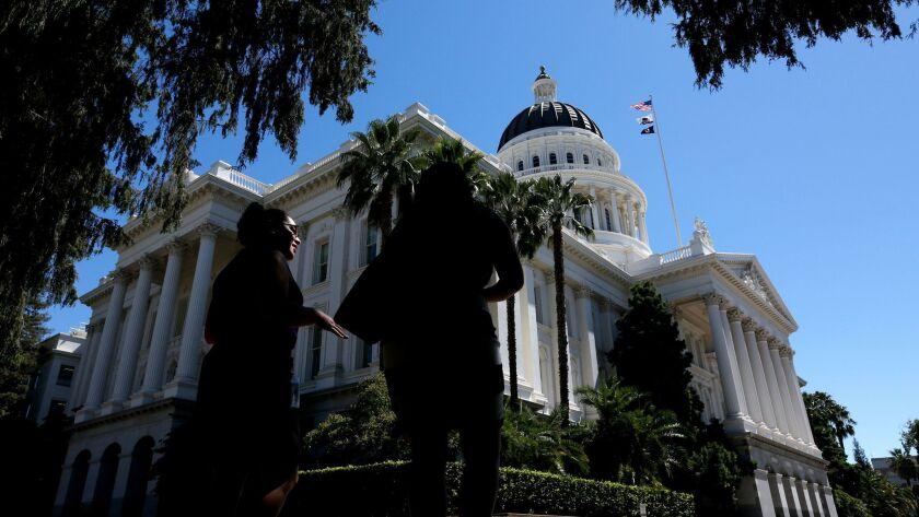 SACRAMENTO, CALIF. -- TUESDAY, AUGUST 30, 2016: The California State Capitol in Sacramento, Calif.,