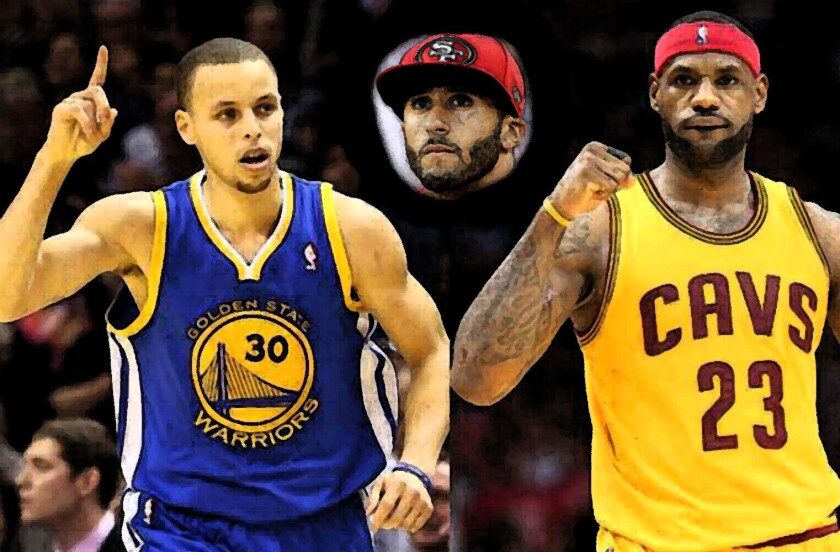 Curry (i) y LeBron (d) apoyan 'desde lejos' a Colin Kaepernick...