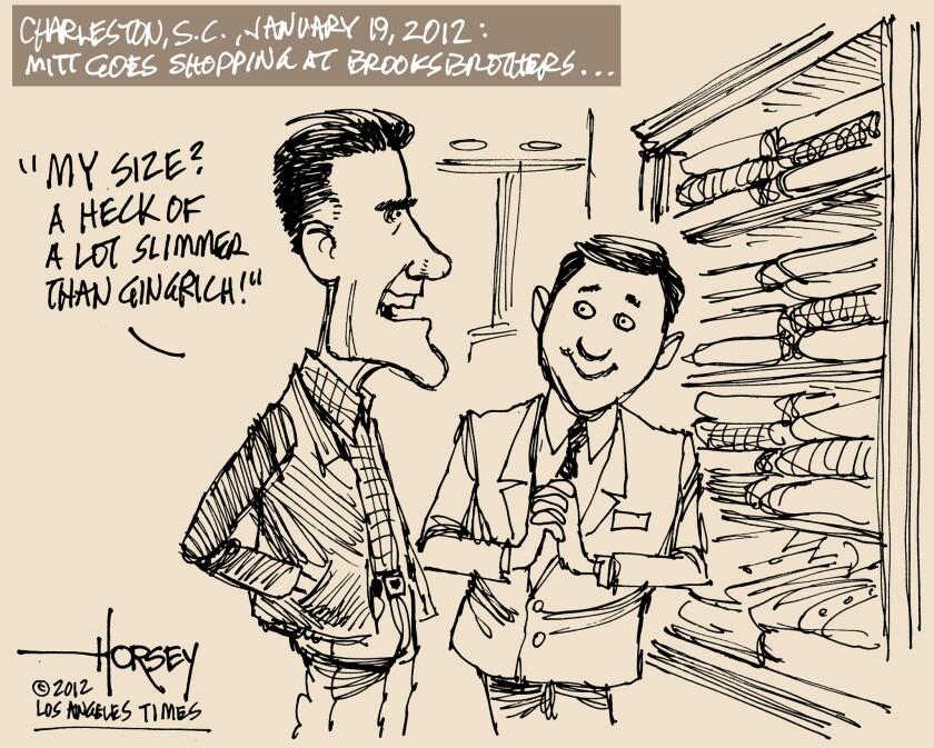 Mitt Romney goes shopping in South Carolina