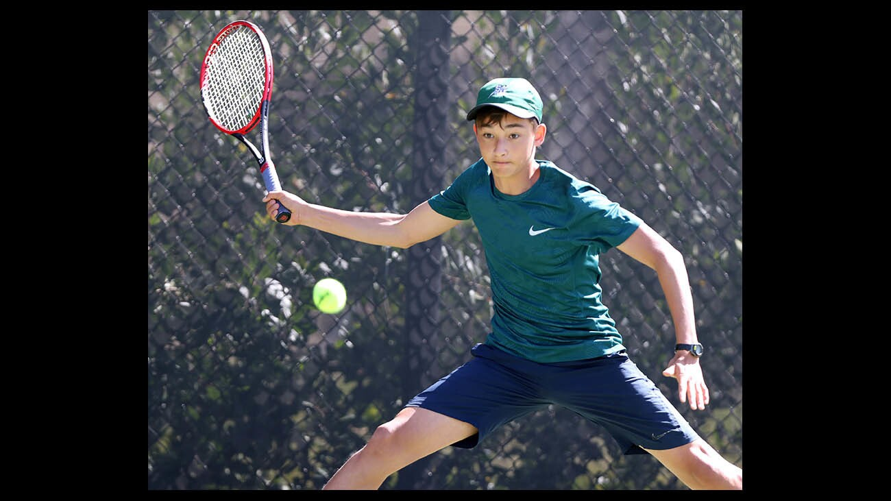 Photo Gallery: Sage Hill vs. Northwood in boys' tennis